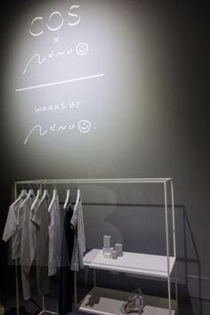 Fuorisalone Milano Nendo x COS — Mimi Berlin Studio Interior, Retail Interior, Concept Stores, Outlet Store, Retail Design, Visual Merchandising, Cos, Wardrobe Rack, Signage
