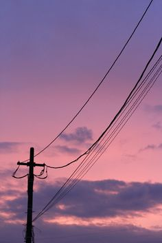 fuchsia pink, sunset glow, telegraph pole