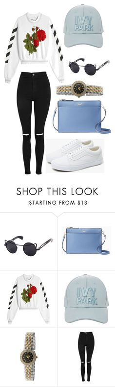 """S T R E E T   S T Y L E"" by hamiltonm737 ❤ liked on Polyvore featuring Kate Spade, Off-White, Topshop, Peugeot and Vans"