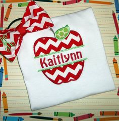 Back To School Chevron Apple Applique by Blumers Embroidery https://www.etsy.com/listing/159471921/back-to-school-chevron-apple-applique