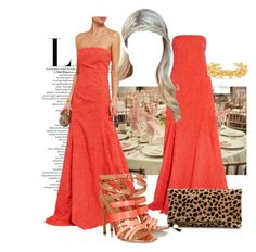 """""""Attendung Nicky Hilton's wedding #2"""" by ivanoe ❤ liked on Polyvore featuring Michael Kors, Clare V., Antonio Berardi, Arme De L'Amour, wedding, gown and nickyhilton"""