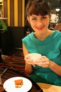 Afternoon tea at Flemings Mayfair in London, England.