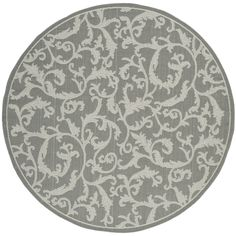 Safavieh Indoor/ Outdoor Courtyard Anthracite/ Light Grey Rug (5'3 Round) | Overstock.com Shopping - Great Deals on Safavieh Round/Oval/Squa...