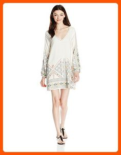Roxy Junior's April Morning Long Sleeve Dress, Marshmallow Tex Mex Border, M - All about women (*Amazon Partner-Link)