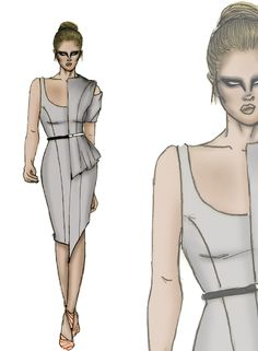 Fashion Design Illustration by Schaumin - Fashion Illustrations - Fashion Magazine Dress Design Sketches, Fashion Design Sketches, Fashion Illustration Dresses, Fashion Illustrations, Fashion Design Portfolio, Illustrators On Instagram, All About Fashion, Couture Fashion, Plus Size Fashion