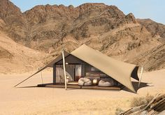 [orginial_title] – Chazz LaBeouf Where Will Meghan Markle And Prince Harry Honeymoon? GLAMPING The Hoanib Valley Camp is super private, and the suites are designed to look like they are topped by a tent for an authentic safari feel. Camping Glamping, Luxury Camping, Outdoor Camping, Camping Tips, Tent Living, Outdoor Living, Hotel San Francisco, Wall Tent, Tent Design