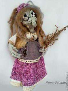 Сказочные персонажи ручной работы. Ярмарка Мастеров - ручная работа. Купить Баба яга.интерьерная кукла. Handmade. Интерьерная кукла