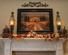 This is her mantle decorated for fall - well one of her mantles, I think she has 3!