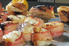 Grilled Bacon Wrapped Scallops #KitchenBoss