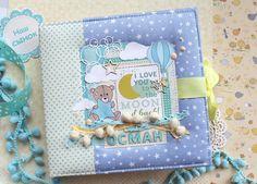 Scrapbook Journal, Scrapbook Albums, Baby Boy Scrapbook, Baby Album, Notebook Covers, All Paper, Handmade Baby, Fabric Covered, Paper Design
