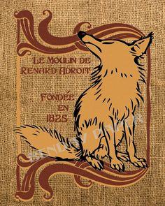 Art nouveau fox - want to draw