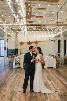 This michigan distillery wedding reception is chic and intimate | Image by  Sally O'Donnell Photography