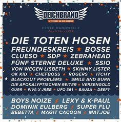 The first bands for Deichbrand Festival 2018