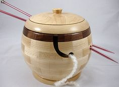 Wooden Yarn Bowls This would be more practical for me since I've broken two pottery bowls with help from my doggie.