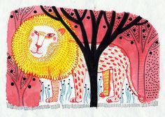 lion_2encre  by Magali Attiogbé