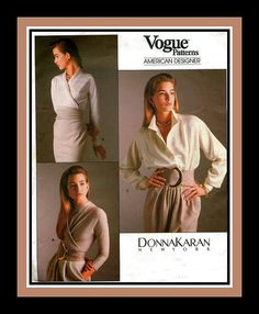 Vintage 1987 DONNA KARAN Vogue Designer by FarfallaDesignStudio, $26.00    The Style that launched my Donna Karan obsession    Very Murphy Brown