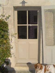 VITREE EXTERIEUR Double Desk, Main Door, Entrance Doors, Windows And Doors, Facade, Sweet Home, Brittany, Extensions, Decor