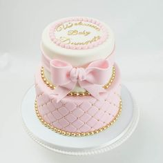 Baby Shower Ides Cakes Girl Pink And Gold 29 Ideas Babyparty-Ideen backen Mädchen-Rosa und Gol Tortas Baby Shower Niña, Gateau Baby Shower, Baby Shower Cupcakes, Shower Cakes, Baby Shower Cake For Girls, Baby Shower Prizes, Baby Shower Niño, Baby Shower Winter, Baby Shower Photo Booth