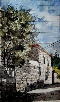 datca, resadiye mahallesi.... Watercolors, Watercolour Paintings, Water Colors, Watercolour, Watercolor Paintings