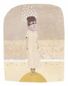 "Saatchi Art Artist Athena Petra Tasiopoulos; Collage, ""Dreaming"" #art"