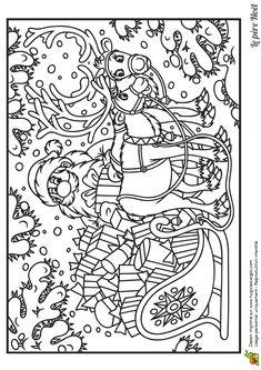Santa colouring page