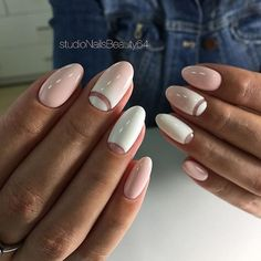 ideas for weddingnails wedding manicure pink nails French Nails, Hair And Nails, My Nails, Oval Nails, Trendy Nail Art, Manicure E Pedicure, Super Nails, Almond Nails, Perfect Nails