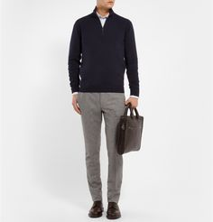 Brioni - Zip-Collar Cashmere Sweater  | MR PORTER