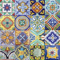 pattern mexican tile-I WANT THESE SO BAD.  WANNA MAKE A TABLE TILED IN THESE FOR PICNICS!!!!!