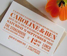letterpress invitations - Google Search