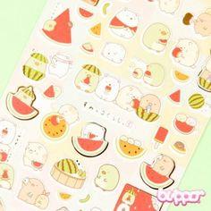 Sumikko Gurashi stickers - Melon - Kawaii Stickers - Stationery   Blippo Kawaii Shop