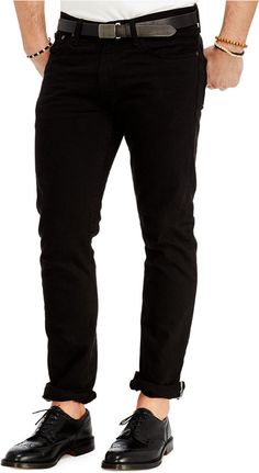 This essential lightweight jean is designed with a trim, tailored fit   and features a modern black wash. Cotton Machine washable Imported Polo Ralph Lauren men's jeans Sits slightly below the waist Slim fit through the seat and the thighs Slim straight-leg silhouette Low rise Belt loops Zip fly with a signature shank closure Five-pocket styling... Price : 98.00$