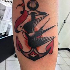 Swallow and Anchor Tattoo By Al Boy