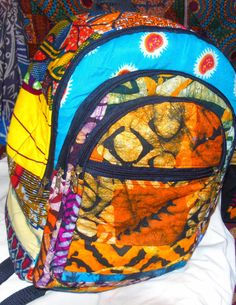 Check out this item in my Etsy shop https://www.etsy.com/listing/217548514/multi-african-print-backpack