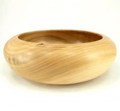 Low Bowl in Bass Wood with Decorative Rim by Gary Van Syoc