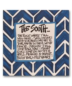Take a look at this 'The South' Square Canvas on zulily today!
