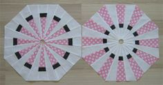 How to change a Dresden Plate circle into a square block