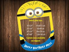 birthday minion party photobooth prop minions party by IRMdesgn