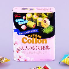 🌸 You can still celebrate hanami or cherry blossom viewing with these Cream Collon biscuit rolls! 😍 Each piece consists of fragrant cream made with cherry and wrapped in a bittersweet matcha waffle. Japanese Sweet, Japanese Candy, Waffle Biscuits, Japanese Snacks, Matcha, Cherry Blossom, Waffles, Rolls, Tasty