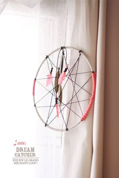DIY: dreamcatcher #diy #home #bedroom #window #dream #dreamcatcher