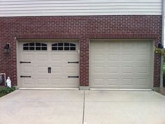 So your garage doors might not be the most glamorous part of your home's exterior, but they deserve some attention! When you think about how much space the front of your garage doors take up, you realize just how much… Continue Reading → Garage Loft, Steel Garage, Garage Workbench, Garage Door Makeover, Garage Door Design, Garage Door Hardware, Home Design, Design Ideas, Interior Design