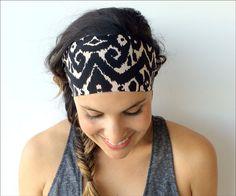Yoga Headband  Fitness Headband  Calico by TrueNorthCollection