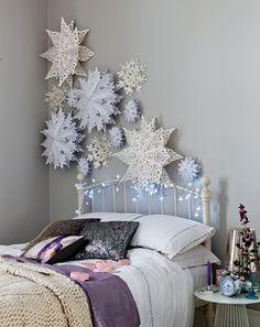 Handmade snowflake art