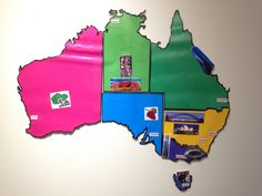 My lesson in Australia. I printed out, cut out and laminated the seven states in different colours with clues stuck on the states and then got the students to piece Australia together like a puzzle.