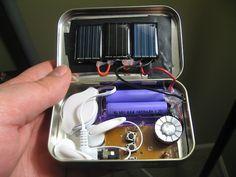 $3 Emergency Solar-Powered Radio Made with Altoids Tin - great idea!