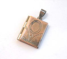 Antiqued Copper Book Locket Charm Pendant by LoveTimes3 on Etsy, $2.90