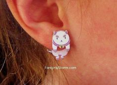 These Puppycat earrings are totes adorbs~ https://www.etsy.com/listing/178075257/bee-and-puppycat-clinging-earrings