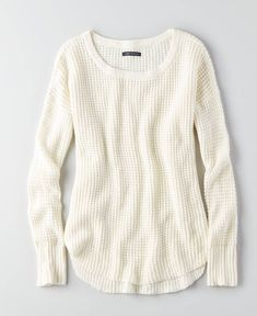 AEO Textured Thermal Sweater, Women's, Ivory