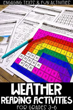 These weather themed reading activities are perfect to use during distance learning.  This reading activities includes 3 different engaging reading passages differentiated to 3 different levels, mystery pictures, writing prompts & text dependent questions.  A complete lesson that is print & go and will have upper elementary students practicing their close reading strategies.  Easy for parents to implement as well!