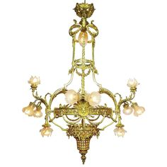 Palatial Belle Epoque 19th/20th Century Louis XIV Style Gilt-Bronze Chandelier | 1stdibs.com