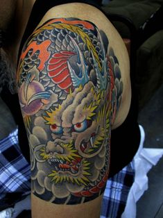 Chris Garver - upper arm and shoulder dragon sleeve